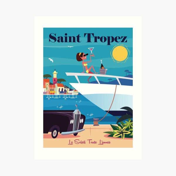 Saint Tropez poster Art Print