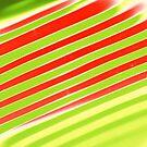 Diagonal Reflection - Cherry Lime by dahlymama
