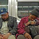 New York Subway Scene by milton ginos