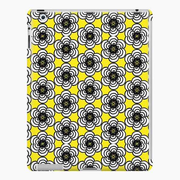 Yellow and Black Flowers iPad Snap Case