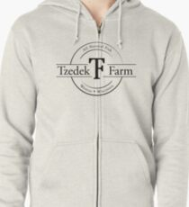 Tzedek Farm Weston WI - Black Zipped Hoodie