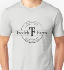 Tzedek Farm Weston WI - Black Slim Fit T-Shirt