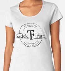 Tzedek Farm Weston WI - Black Premium Scoop T-Shirt