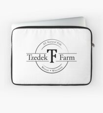 Tzedek Farm Weston WI - Black Laptop Sleeve