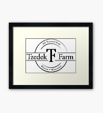 Tzedek Farm Weston WI - Black Framed Print