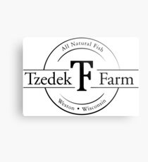 Tzedek Farm Weston WI - Black Metal Print