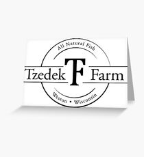 Tzedek Farm Weston WI - Black Greeting Card