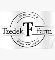 Tzedek Farm Weston WI - Black Poster