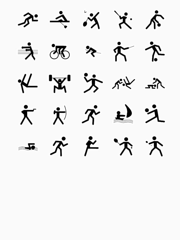 Sports Symbols Sport Icons Sporting Symbol Womens Premium T