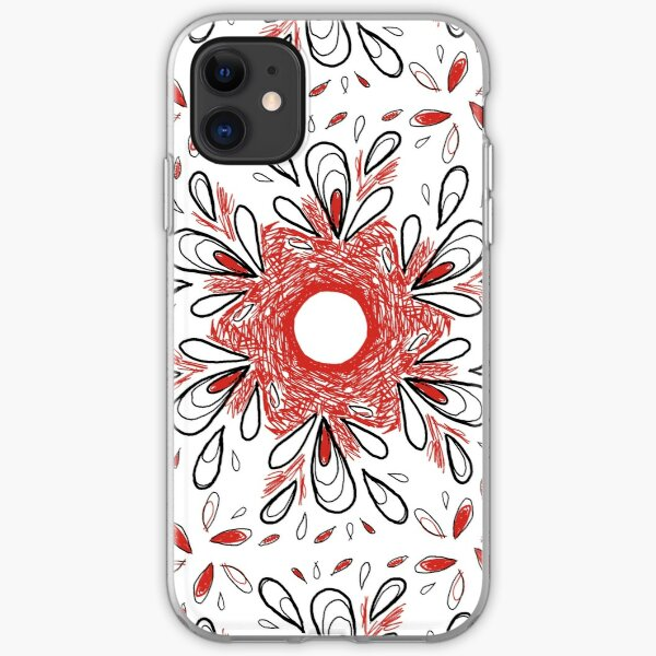 Red Scribble Pattern iPhone Soft Case