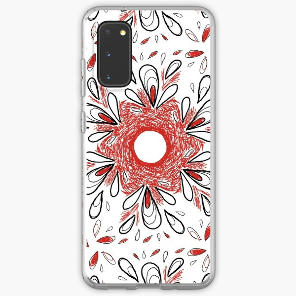 Red Scribble Pattern Samsung Galaxy Soft Case