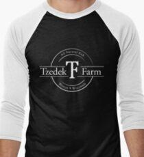 Tzedek Farm - Weston WI - White Baseball ¾ Sleeve T-Shirt