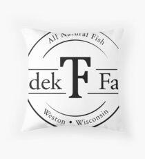 Tzedek Farm Weston WI - Black Throw Pillow