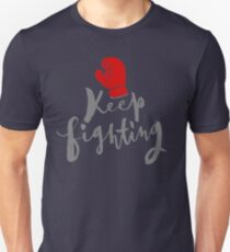 Brush lettering design - Keep Fighting T-Shirt