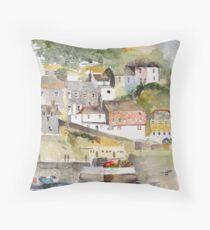 Mevagissey, Cornwall Throw Pillow