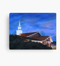 Church at Nightfall Canvas Print