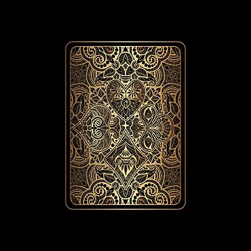 Ornament Gold Playing Card | Digital Art by CarlosV