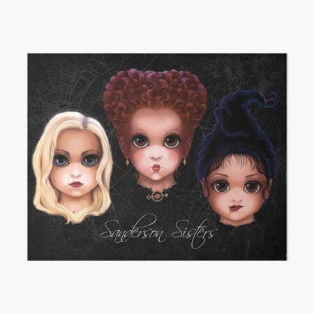 Sanderson Sisters (BITTY BADDIES) Art Board Print