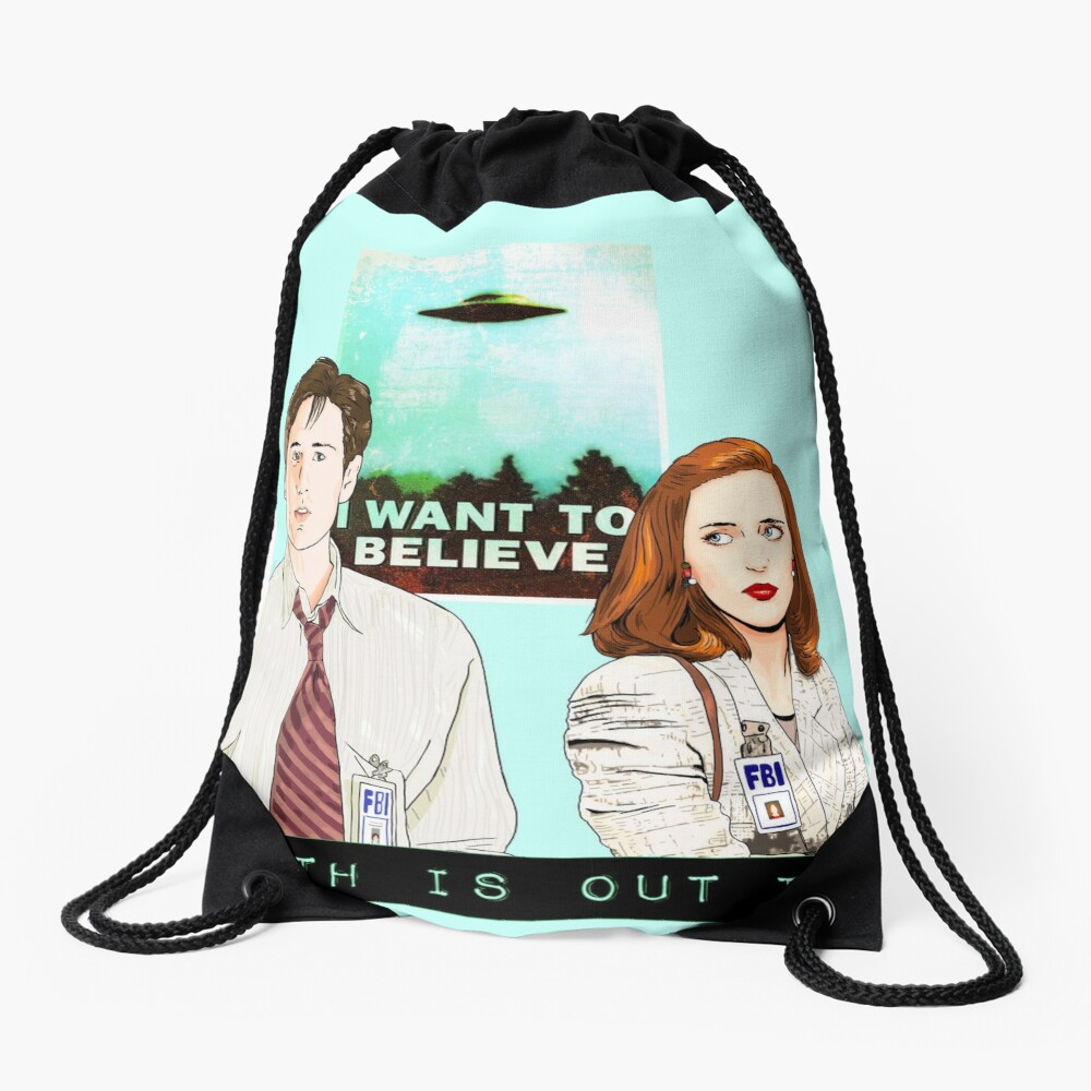 The X files the truth is out there I want to believe by Mimie  Drawstring Bag