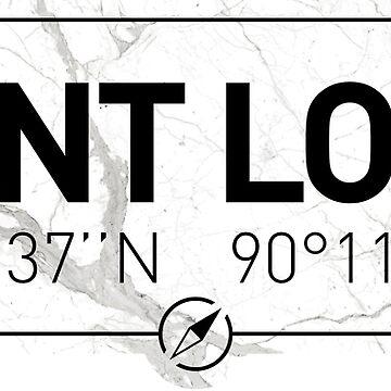 The longitude and latitude of Saint Louis, MO by efomylod