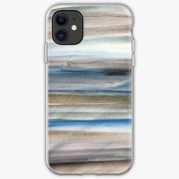Brown and Blue Abstract iPhone Soft Case