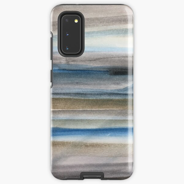 Brown and Blue Abstract Samsung Galaxy Tough Case
