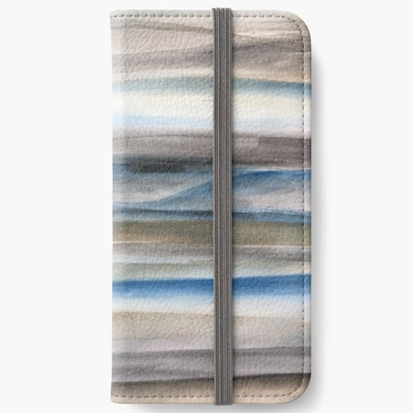 Brown and Blue Abstract iPhone Wallet