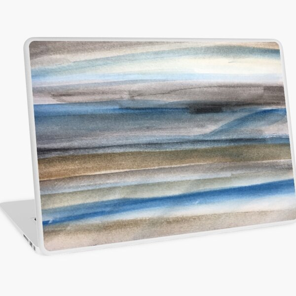 Brown and Blue Abstract Laptop Skin