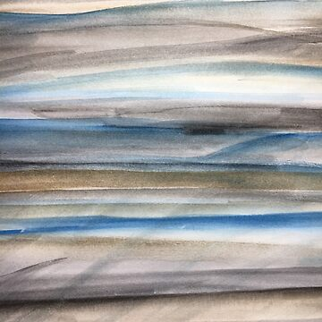 Brown and Blue Abstract by rosemaryann