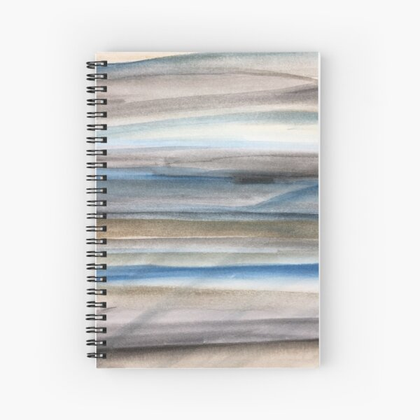 Brown and Blue Abstract Spiral Notebook