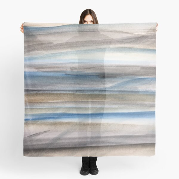 Brown and Blue Abstract Scarf