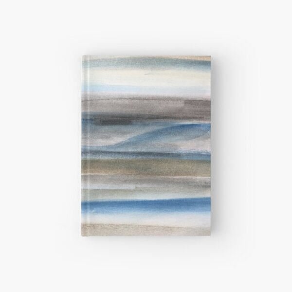 Brown and Blue Abstract Hardcover Journal