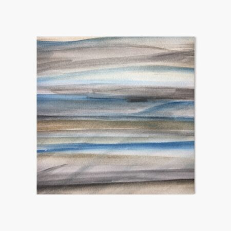 Brown and Blue Abstract Art Board Print