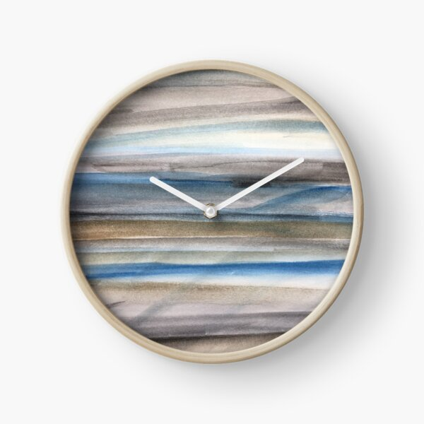 Brown and Blue Abstract Clock