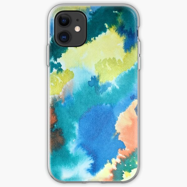 Untitled (Blue, Yellow, Orange and Green)  iPhone Soft Case