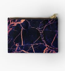 Coloured Gold Marble Texture Studio Pouch