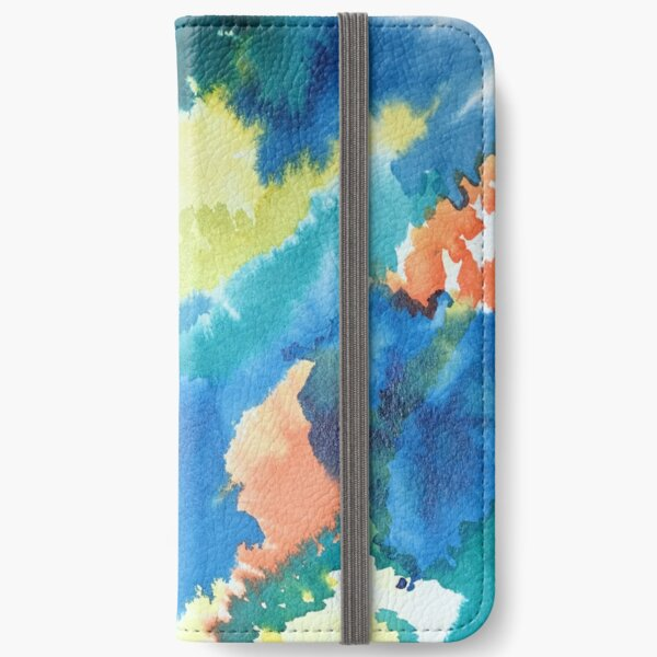 Untitled (Blue, Yellow, Orange and Green)  iPhone Wallet