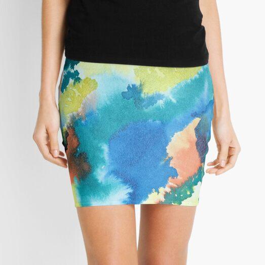Untitled (Blue, Yellow, Orange and Green)  Mini Skirt