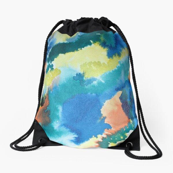 Untitled (Blue, Yellow, Orange and Green)  Drawstring Bag