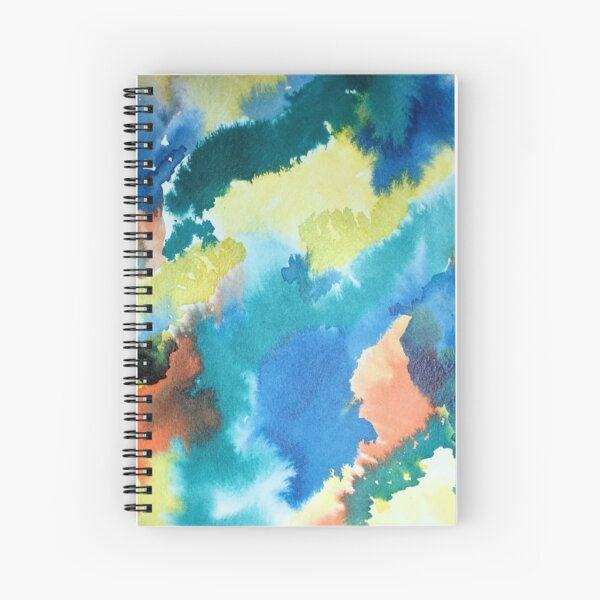 Untitled (Blue, Yellow, Orange and Green)  Spiral Notebook