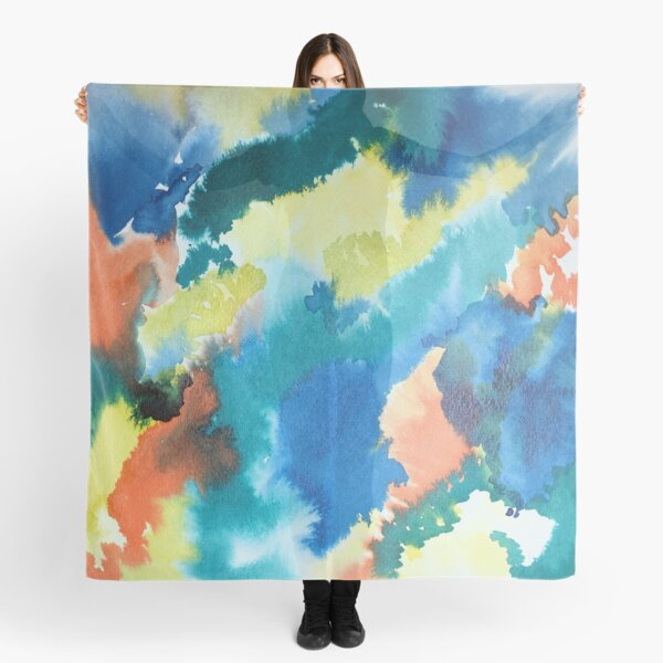 Untitled (Blue, Yellow, Orange and Green)  Scarf