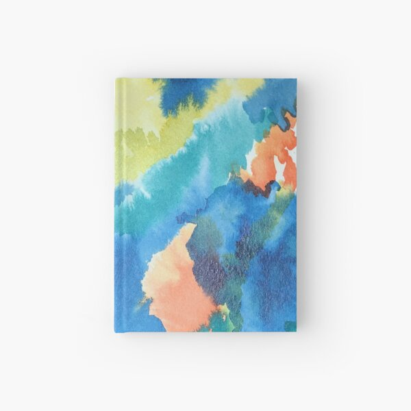 Untitled (Blue, Yellow, Orange and Green)  Hardcover Journal