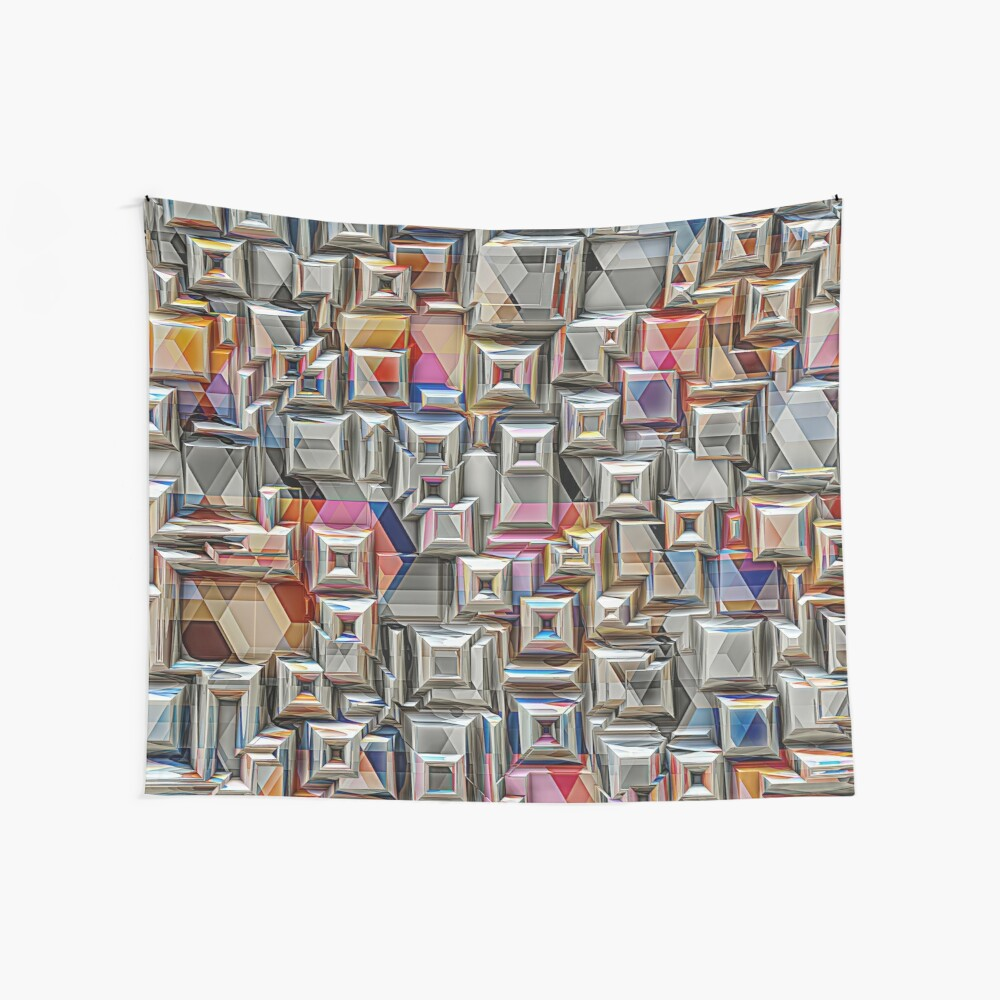Geometric 3D Structure Wall Tapestry