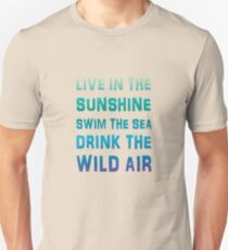Live In The Sunshine Summer Style Quote Unisex T Shirt