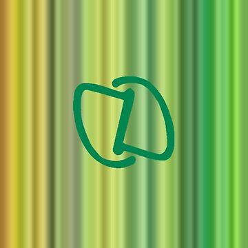 Green Stripes by DahnDahlas