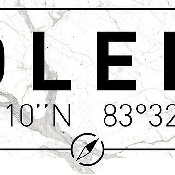 The longitude and latitude of Toledo, OH by efomylod