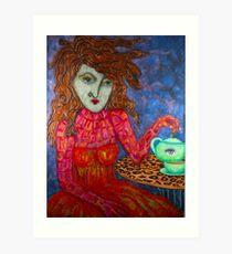 Teapot Girl Art Print