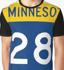 Minnesota Trunk Highway MN 28 | United States Highway Shield Sign Sticker Graphic T-Shirt