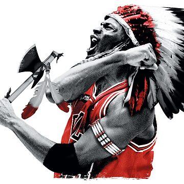 Michael Jordan Indian Apache Bulls by metaminas