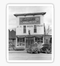Beer Palace Tavern, 1940. Vintage Photo Sticker